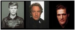 David Bowie, Alan Rickman, Glenn Frey