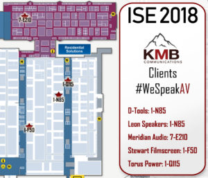 Visit all of KMB's clients at ISE 2018