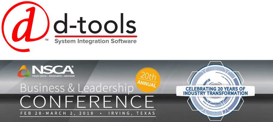 D-Tools Joins NSCA, Sponsors Upcoming NSCA Business & Leadership Conference