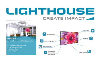 Lighthouse Enters US Indoor Fine-Pitch Market with Dynamic Series Direct View LED Displays for Digital Signage
