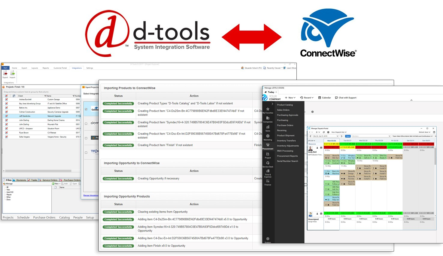 D-Tools and ConnectWise Integration Seamlessly Ties Project Workflow