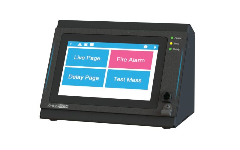 AtlasIED Launches New IED570C-H GLOBALCOM® Digital Communication Station with High Definition Touch Screen for Pre-programmed Boarding Sequences