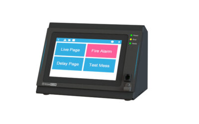 AtlasIED Shows New IED570 GLOBALCOM® Digital Communication Station with High Definition Touch Screen for Pre-programmed Boarding Sequences