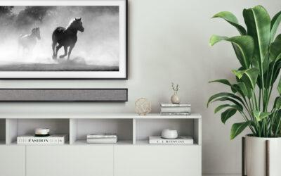 Leon Introduces FrameBar, an Ultra-Thin Soundbar Designed  to Match the Width & Finish of Samsung's The Frame TV